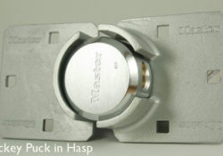 anti theft puck lock system for vending machine