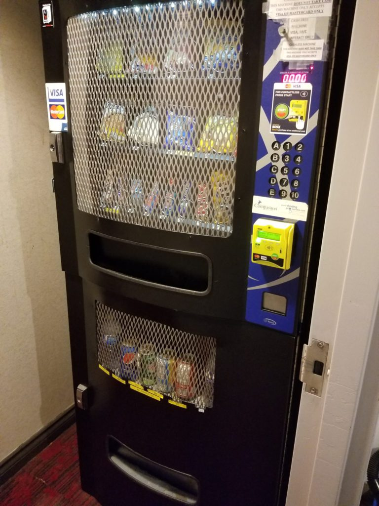 different vending machine sizes and weight on places