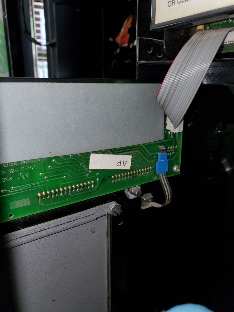 location of the smaller board with keypad cable connected