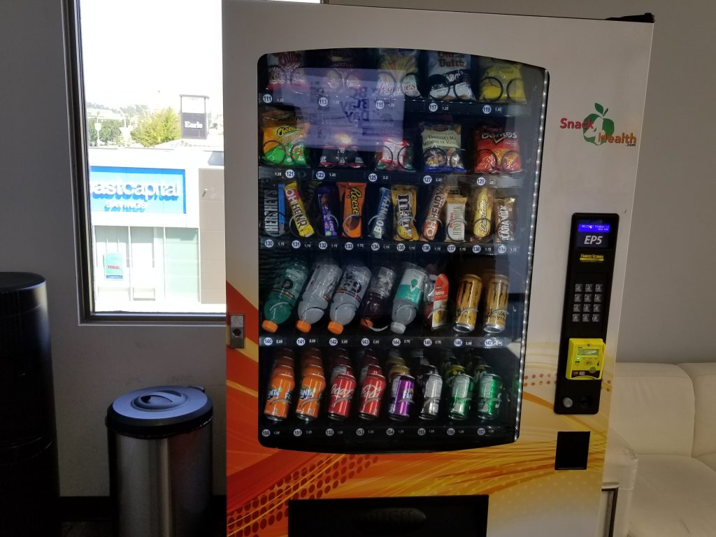 vending machine with sensors to make sure it vends product